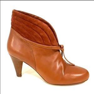 DKNY Leather/Suede  Brown Ankle Boots Size 7